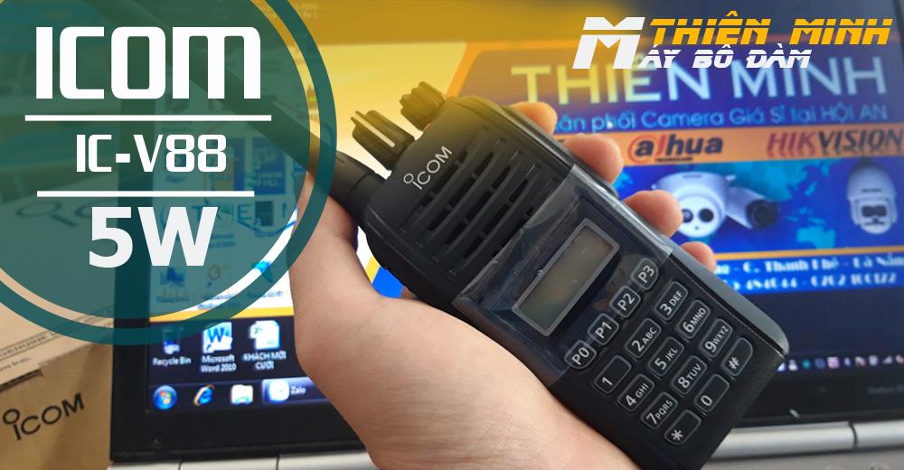 Máy bộ đàm ICOM có dung lượng Pin cao, dùng liên tục 24h